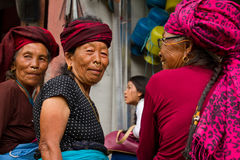 Donne nepalesi anziane, Chitwan, Nepal Fotografia Stock Libera da Diritti