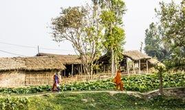 Donne nepalesi nel paese Fotografie Stock Libere da Diritti