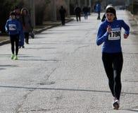 Donne non identificate ai 20.000 tester della camminata della corsa Fotografia Stock Libera da Diritti