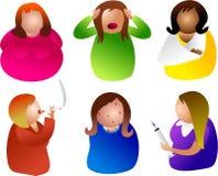 Donne non sane illustrazione di stock