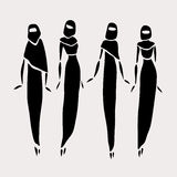 Donne orientali in velato in Immagini Stock