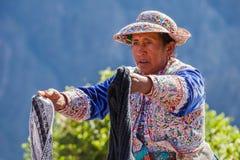 Donne peruviane Fotografie Stock