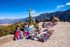 Donne peruviane Immagine Stock