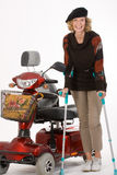 Donne più anziane invalide Immagine Stock