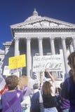 Donne a raduno favorevole alla libertà di scelta Fotografia Stock