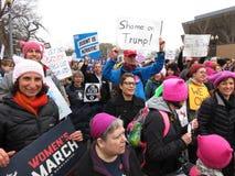 Donne risolute al ` s marzo delle donne Fotografie Stock