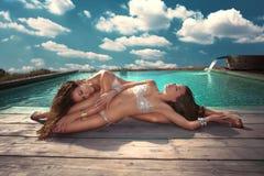 Donne sensuali Fotografie Stock