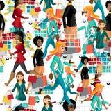 Donne senza cuciture del modello con i sacchetti della spesa su Black Friday Immagini Stock