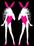 Donne sexy 2 del modello di modo del coniglietto di pasqua Fotografia Stock
