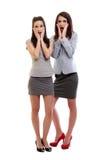 Donne sorprese di affari Immagini Stock