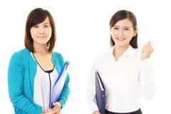Donne sorridenti di affari immagini stock