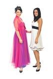 Donne splendide dei modelli in vestiti da partito Fotografia Stock