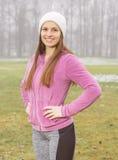 Donne sportive di forma fisica all'aperto Immagini Stock Libere da Diritti