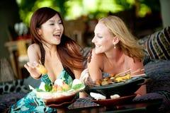 Donne sulla vacanza Immagine Stock