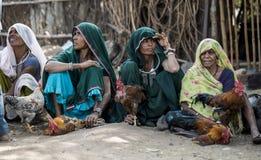 Donne tribali del venditore del gallo Immagine Stock Libera da Diritti