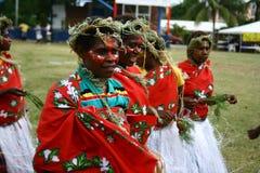 Donne tribali del villaggio del Vanuatu Immagine Stock Libera da Diritti
