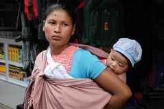 Donne tribali di Khasi all'India di nordest Fotografia Stock