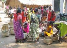Donne tribali indiane al servizio Fotografia Stock Libera da Diritti