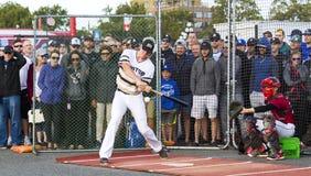 Donne un coup de pied les ressortissants supérieurs de Men's de Canada de base-ball photos stock