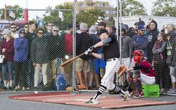 Donne un coup de pied les ressortissants supérieurs de Men's de Canada de base-ball photographie stock libre de droits