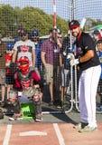 Donne un coup de pied les ressortissants supérieurs de Men's de Canada de base-ball photos libres de droits