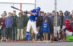 Donne un coup de pied les ressortissants supérieurs de Men's de Canada de base-ball images stock