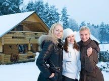 Donne in vestiti di inverno Fotografia Stock