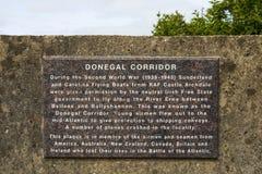 Donnegal korytarza plakieta w Irlandia fotografia stock