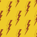 Donner-Beleuchtung Nahtloses vektormuster Stockfoto