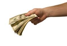 Donner d'argent Image libre de droits