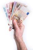 Donner d'argent de main images libres de droits