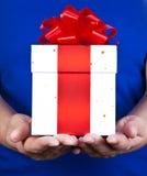 Donner de cadeau Photographie stock libre de droits