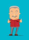 Donner de vieil homme des pouces lèvent l'illustration Photo libre de droits