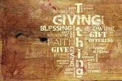 Donner et fond de Tithing Image libre de droits