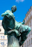 Donner Fountain statue. Neuer Markt square and the statue fountain Donner Stock Images
