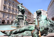 The Donner FountainVienna, Austria Royalty Free Stock Photography