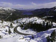Donner jezioro z śniegiem Fotografia Royalty Free