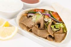Donner Kebab Verpackung stockfotos