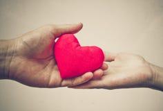 Donner l'amour Images libres de droits