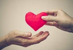 Donner l'amour Photos libres de droits