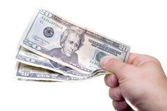 Donner l'argent Image libre de droits