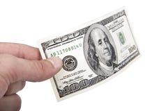 Donner l'argent liquide Image libre de droits