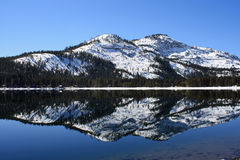 Donner Lake Reflection Royalty Free Stock Images