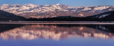 Donner Lake in Sunset Royalty Free Stock Photo