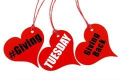 Donner le billet de forme de coeur de mardi Image stock
