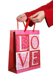 Donner le cadeau de l'amour Photos stock