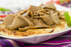 Donner Meat on Naan Royalty Free Stock Images
