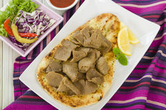 Donner Meat on Naan Royalty Free Stock Photo