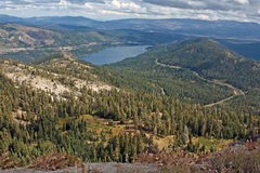 Donner Pass/Donner Lake Stock Photo