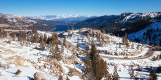 Donner pass near truckee Royalty Free Stock Images